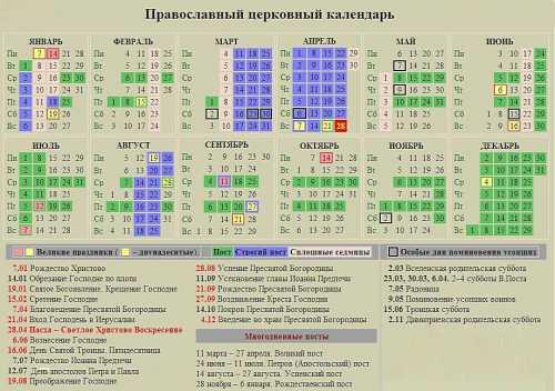 церковный православный календарь на май 2017 года
